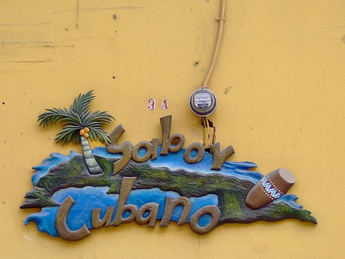 Sabor Cubano Restaurant sign