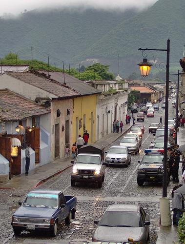 Rush hour in Antigua