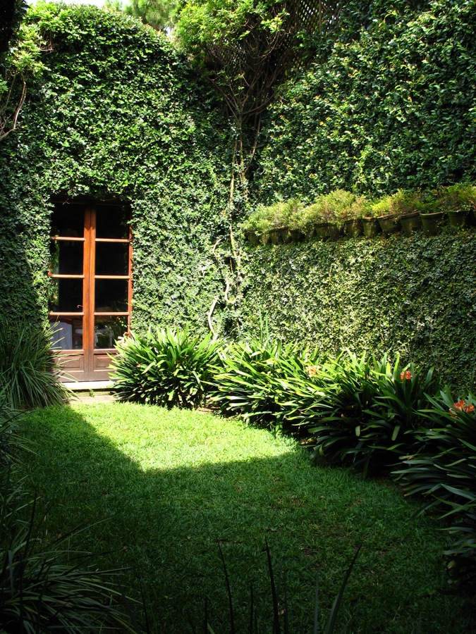 really green garden at posada del ngel