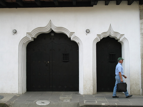 Arab style doorways