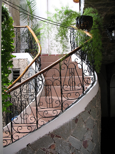 Stairway of Hotel Centro Colonial