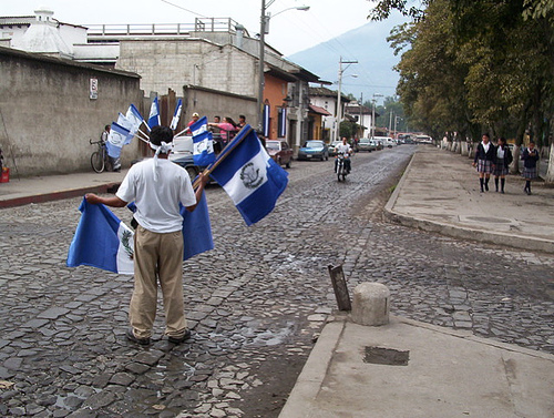 Flagman in Antigua