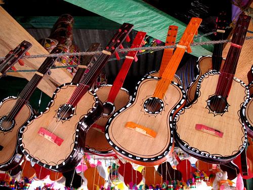 Guatemalan toy guitars