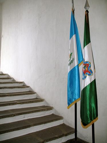 Guatemala and Antigua flags