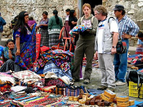 Buying Folk-art on the Streets of El Carmen