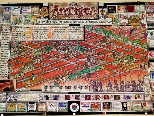 Antigua Guatemala Map