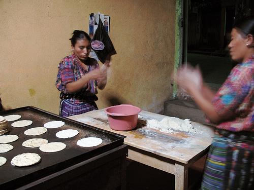 Making Tortillas in Guatemala