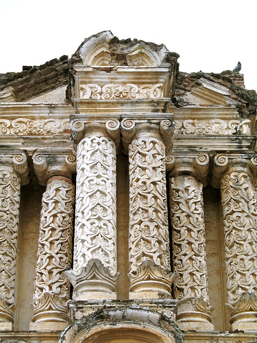 Baroque Columns at El Carmen Ruins