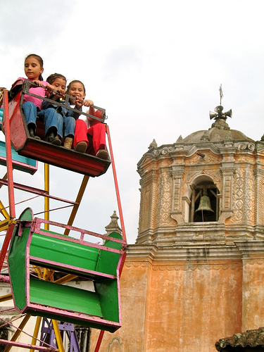 Children's Ferris Wheel and San Pedro Las Huertas Church