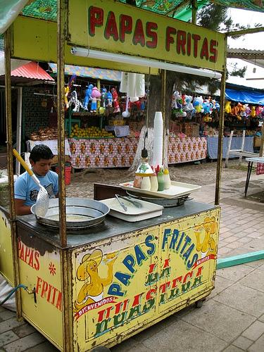 French Fries Cart at San Pedro Las Huertas Fair