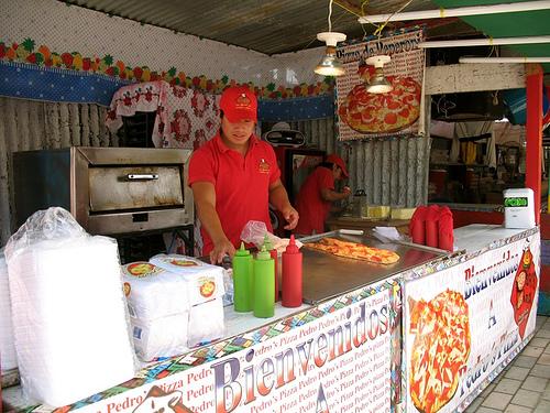 Guatemalan Fair Pizza Stand