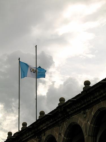 Guatemalan Flag at Municipalidad de La Antigua Guatemala