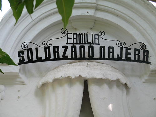 The Solorzano Najera Mausoleum