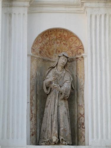 Saint in Niche in San Lazaro Cemetery