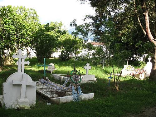 Crypts in San Lazaro Cemetery in La Antigua Guatemala
