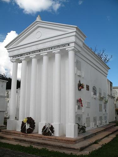 Columns-style Mausoleum in La Antigua Guatemala