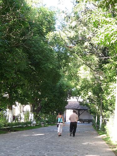 Exiting the San Lázaro Cemetery