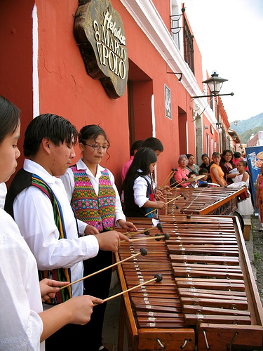Marimba Playing in Calle del Arco