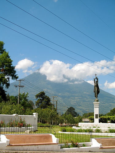 Santo Domingo Park in La Antigua Guatemala