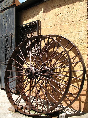 Old Metal Wheels