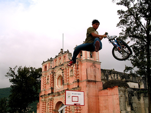 BMXing in Jocotenango