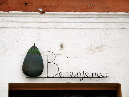 Berenjenas Sign