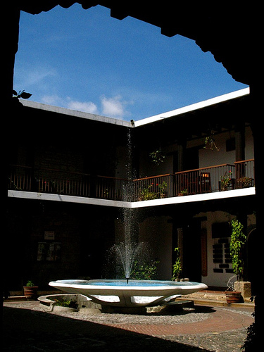 Center Fountain in Patio