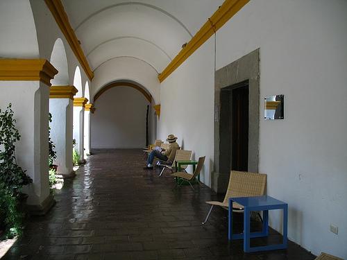 Hallway Reading Area at the Compañía de Jesús Library