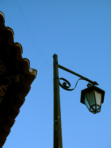 Street Lamp and Roof Detail