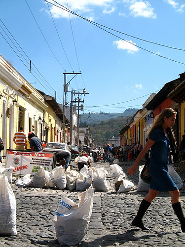 Repairing the Cobblestreets of La Antigua Guatemala