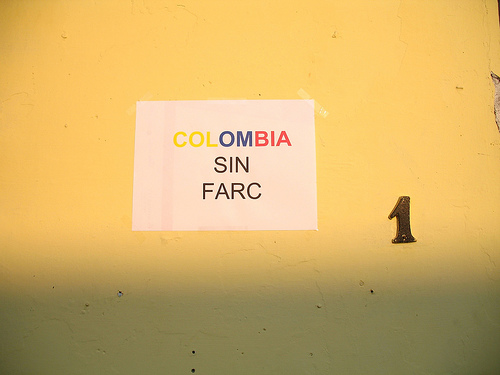 Colombia sin FARC sign