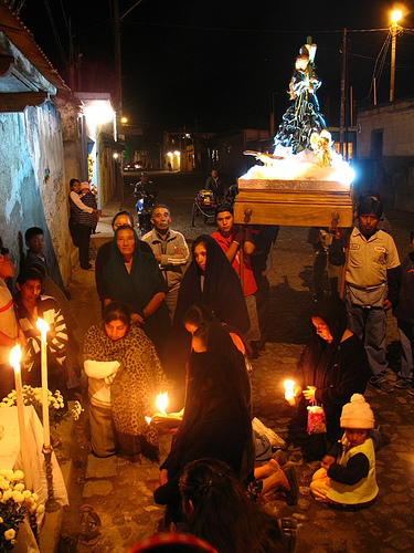 Small Procession in San Pedro Las Huertas