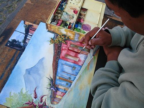Painting La Antigua Guatemala