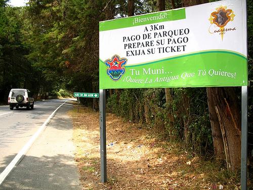 Prepare your payment to enter La Antigua Guatemala