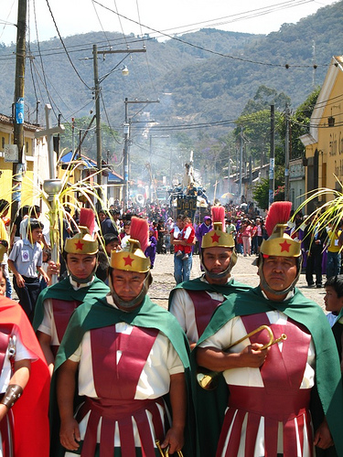 Broom Head Romans in La Antigua Guatemala