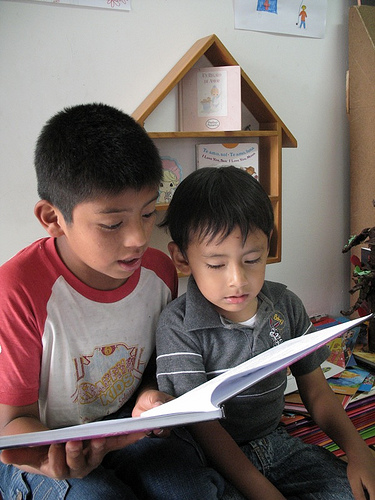 I read to my little brother