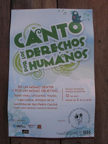 Canto por los Derechos Humanos Poster