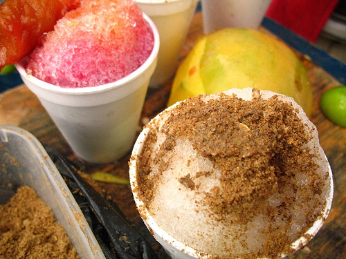 Guatemalan Granizadas or Shaved Ice Snack