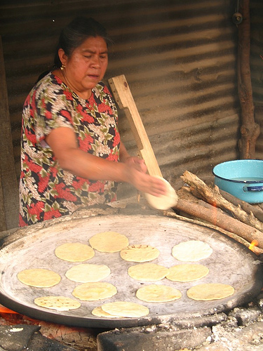Making Guatemalan Tortillas