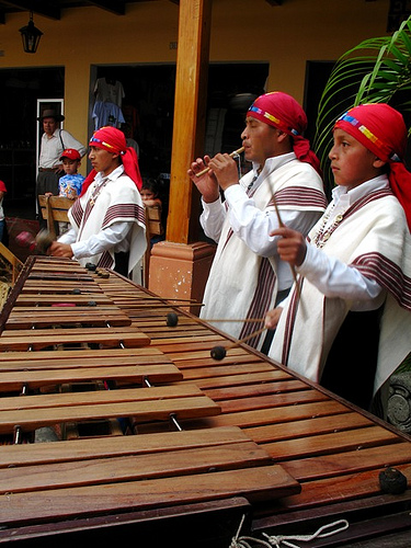 Traditional Guatemalan Marimba Players