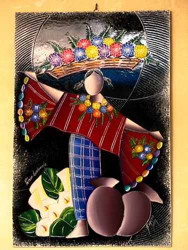 Guatemalan Indigenous Painting from Patzum, Guatemala