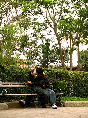Loving Couple in Antigua's Central Park