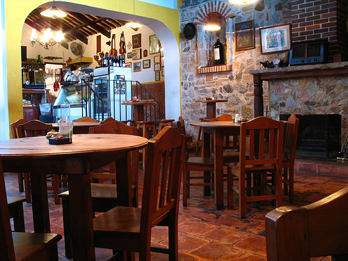 Dining Area at Quesos y Vinos Restaurant