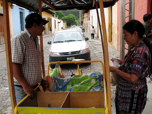 Buying the Afternoon Delivery Guatemalan Bread