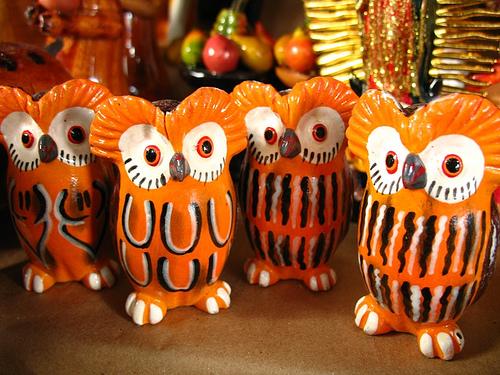 Good Fortune and Abundance Guatemalan Owls