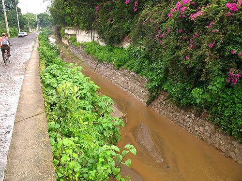 Pensativo River in La Antigua Guatemala