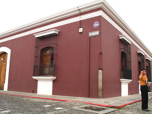 Burgundy Corner in La Antigua