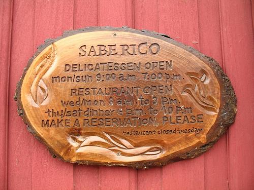 Sabe Rico wooden Sign in Antigua Guatemala