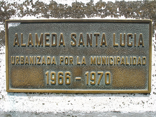 Alameda Santa Lucía Sign