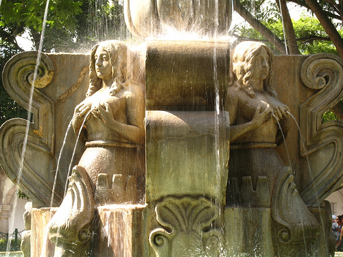 Capturing Sunshine at the Mermaids Fountain